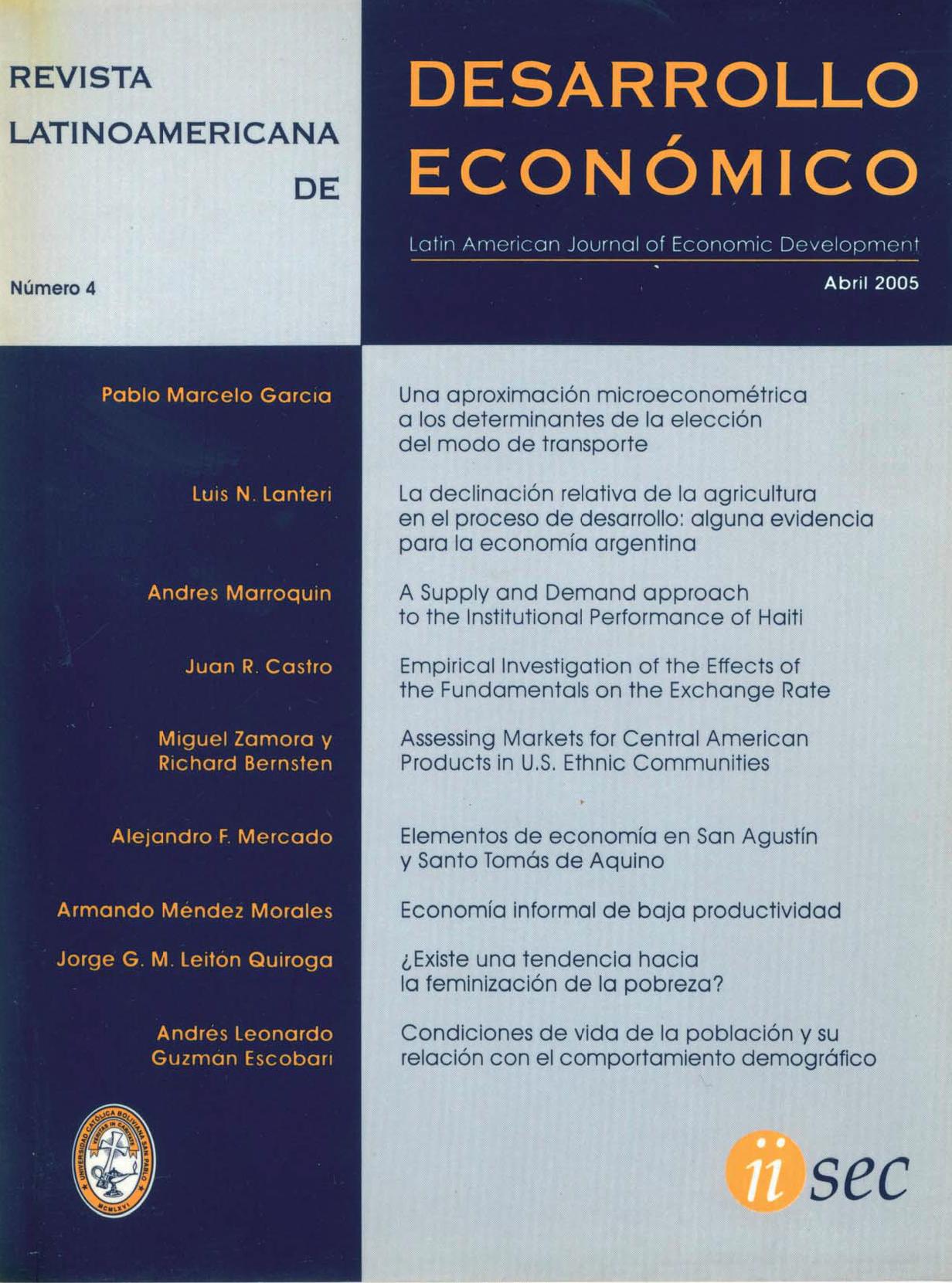 Revista Latinoamericana de Desarrollo Económico No. 4
