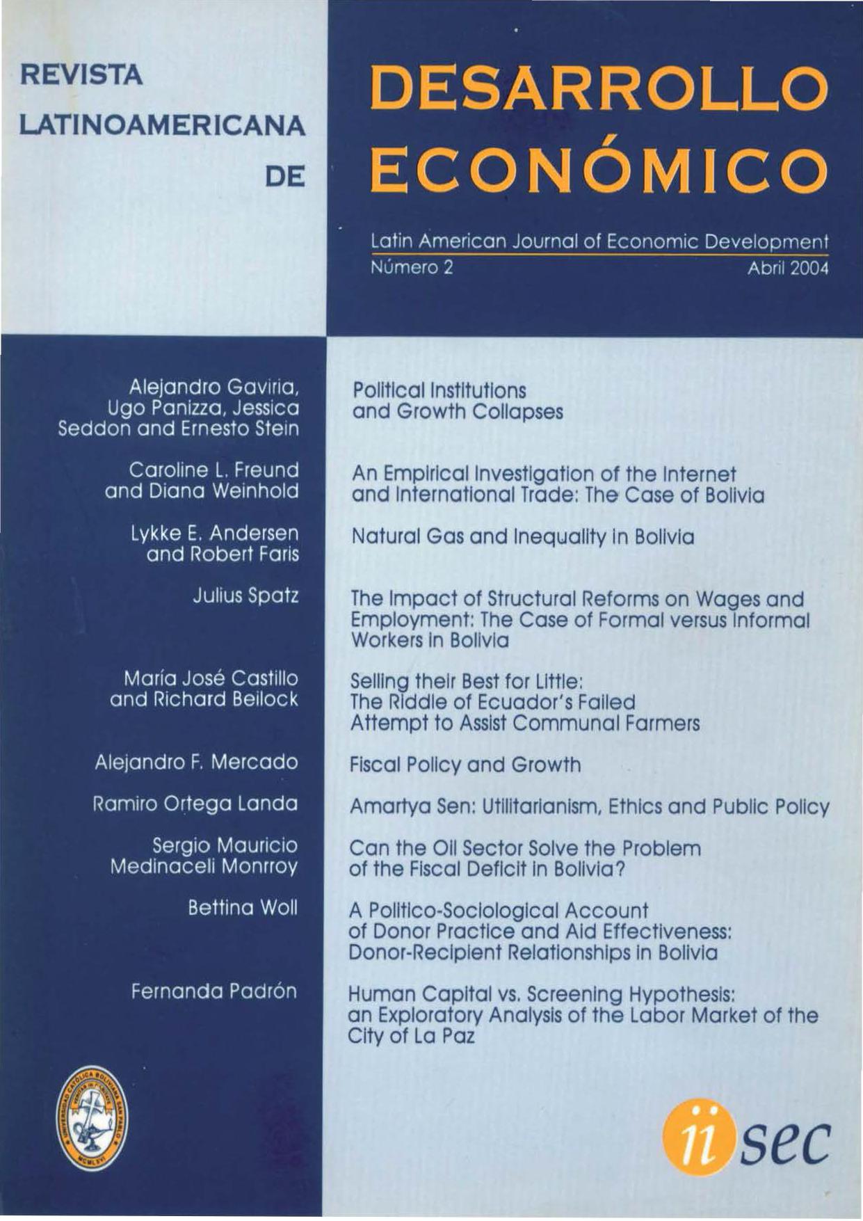Revista Latinoamericana de Desarrollo Económico No. 2